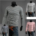 round neck long sleeve zebra stripe