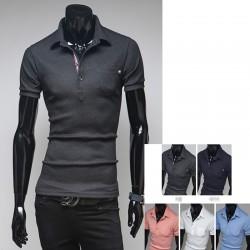 erkek polo gömlekleri üçlü çizgi