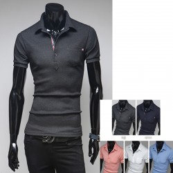 men's polo shirts triple line