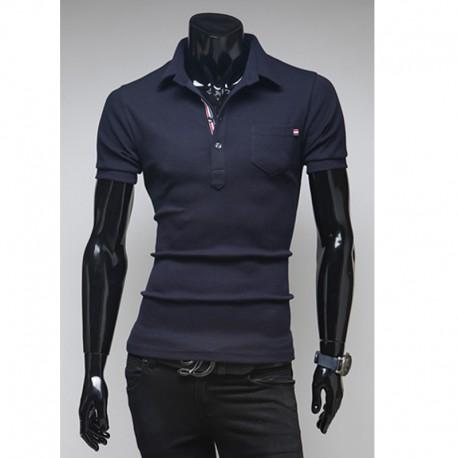 men's polo shirts triple line