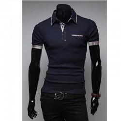 vyriški polo marškinėliai vaivorykštė linija
