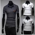 чоловічі сорочки поло подвійна лінія рукав
