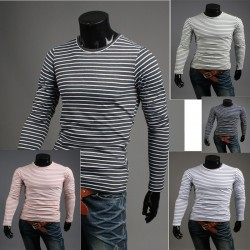white cover round neck long sleeve zebra stripe