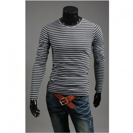 biała pokrywa wokół szyi, długi rękaw zebra z paskiem