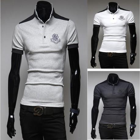 pánské košile s krátkým rukávem rokokové výšivka