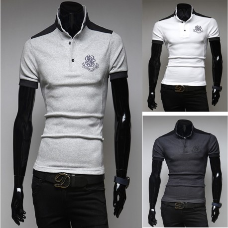 polos hommes broderie rococo
