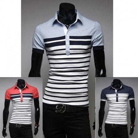 men's polo shirts dandy stripe