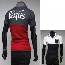πουκάμισα πόλο των ανδρών αγαπάμε τους Beatles