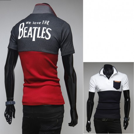 kişi polo köynək biz Beatles sevgi