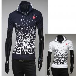 pánské košile s krátkým rukávem pevné love