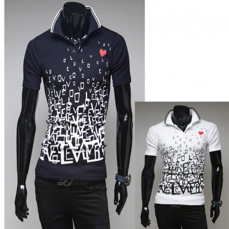 men's polo shirts solid love