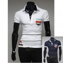 pánské košile s krátkým rukávem bohémský cikán kapesní