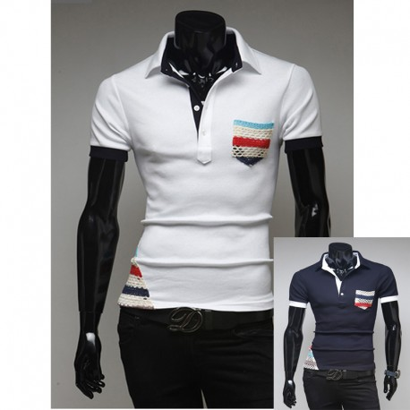 men's polo shirts bohemian gipsy pocket
