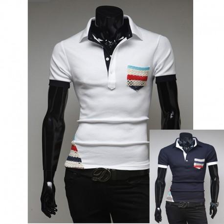 мужские рубашки поло богемной цыганский карманные