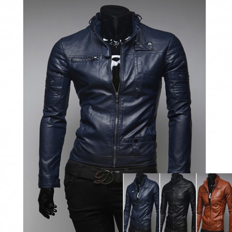mani di forbice giacca di pelle da uomo