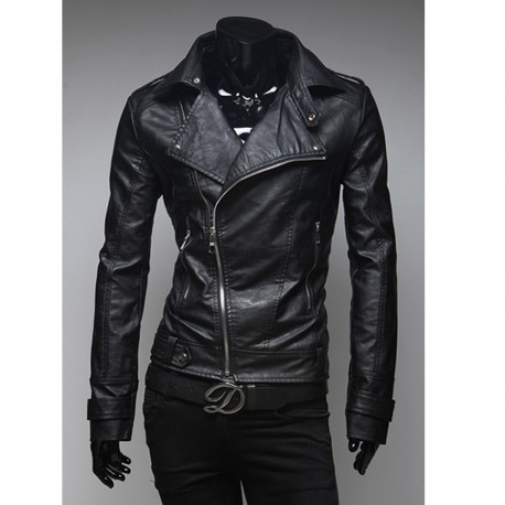 чоловіча шкіряна куртка Харлі наїзник