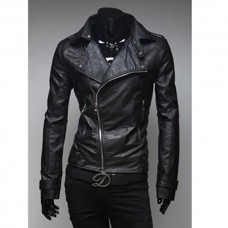 cuir coureur veste harley hommes