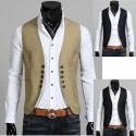 erkek yeleği ceket 5 düğme yuvarlak kesim