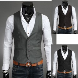men's vest types incision single line