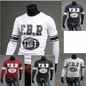 F, B, R round shirts