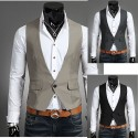 men's vest one button single