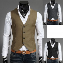 heren vest zakdoek pocket