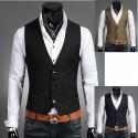men's vest 5 button double hand pocket