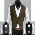men's vest 1 button v collar