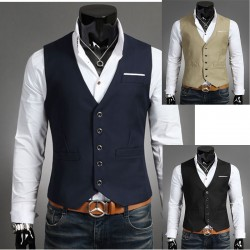 men's vest breast cut 5 button