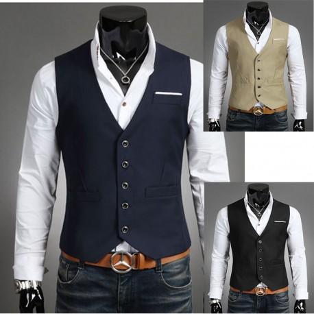 men's vest breast cut 5 button