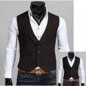 men's vest tuxedo collar