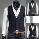 pánská vesta dvě vrstvy límec