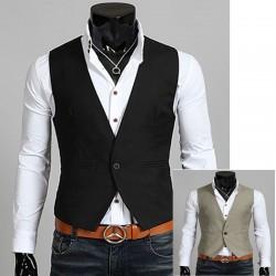 heren vest 1 knop weelderig Soft