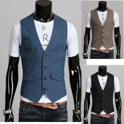 giacca di lino maglia degli uomini di