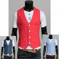 men's vest linen inner pocket