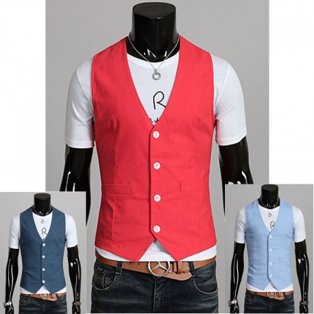 men's vest linen inner pocket