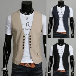 veste lin double bouton pour hommes