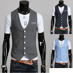men's vest linen handkerchief