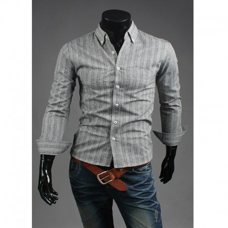 wool stripe check shirts
