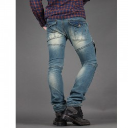 menns Skinney jeans biker uformell