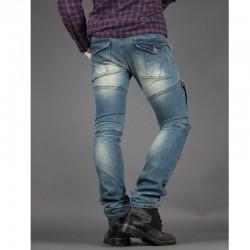 мужская skinney джинсы байкер случайные