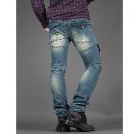 men's skinney jeans biker casual