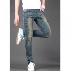 мъжки skinney дънки джоб от двете страни