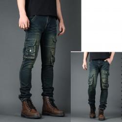 мъжки skinney дънки мулти покет портфейл