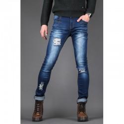 мъжки skinney дънки заострени панталони