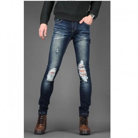 чоловічі джинси skinney коліно промивають