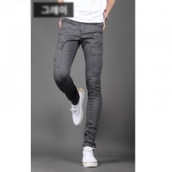 Koszulka męska slim fit spodnie Cotten cargo