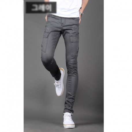 men's slim fit cotten pants cargo
