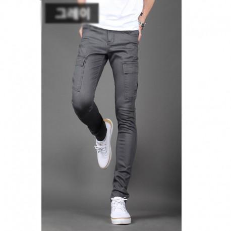 men's slim fit cotten pants cargo