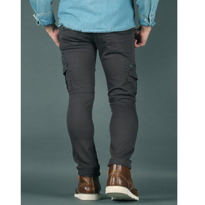 9a88bf5c741e ... pánske slim fit bavlnené nohavice biker dandy zips ...